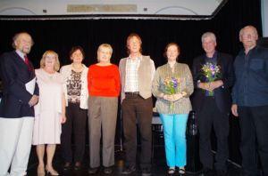 Die Teilnehmer*innen der Endrunde mit der 1. V. der HAV Sabine Witt und dem 2. V. Wolf-Ulrich Cropp
